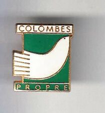 RARE PINS PIN'S .. ANIMAL OISEAU BIRD PIGEON COLOMBE COLOMBES PROPRETE ~BF
