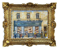 Beautiful Painting Pictures Baroque Antique Repro Frame Bakers Shop 56x46 CM 69