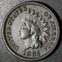 1885 INDIAN HEAD CENT With LIBERTY - VF VERY FINE