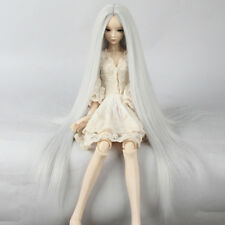 BJD Doll Wigs 8-9'' 1/3 SD DZ DOD LUTS  22~24cm Long Straight Silver Toy Hair