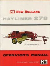 NEW HOLLAND BALER HAYLINER 278 OPERATORS MANUAL