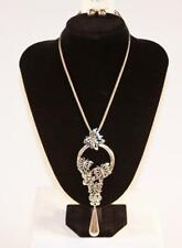 Silver Tone & Butterfly Jxgw New Necklace & Earrings Set Premium Fashion Jewelry