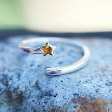 Adjustable Shooting Star Ring Solid Sterling SIlver 925 From Canada Girl Gift