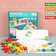 Wooden Cardboard English Spelling Alphabet Game Early Education Educational
