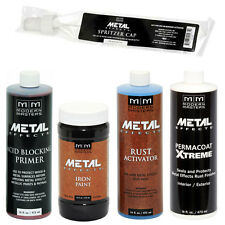 Modern Masters Metal Effects Iron Paint & Rust Activator Kit 16OZ SIZE!