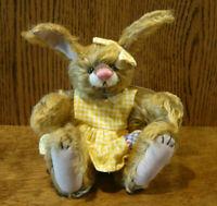 "DEB CANHAM ARTIST DESIGNS Bigger Bear, FANCY NANCY, 8"" Limited ED Mohair Bunny"