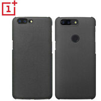 For OnePlus 6T 5T 5 6 Sandstone Matte Slim Hard Back Case Cover+Screen Protector