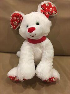 "BUILD A BEAR MERRY PEPPERMINT CHRISTMAS DOG Puppy PLUSH 13"""
