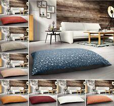 Large Jacquard Floral Print Blue Terracotta Multi Purpose Floor Cushion