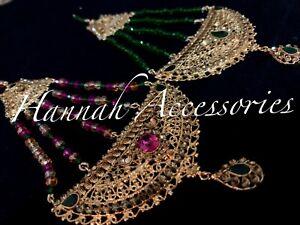 Pakistani/Indian Style Party Wear Hydrabadi Pasa Jumar Head Piece 6 Colours