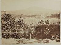 Catania Etna Dal Giardino Bellini Italia Fotografia Vintage Albumina, Ca 1880