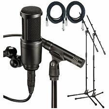 Audio Technica*AT2041SP Studio Pack*AT2020+AT2021+Sonar LE+Mic Cables+Stands NEW