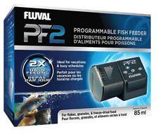 Fluval PF2 Programmable Fish Feeder 85ml - Adjustable Slider Battery Powered