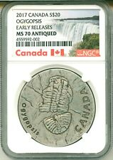 2017 Canada S$20 Ancient Canada: Ogygopsis Early Release Ngc Ms70 Antiqued