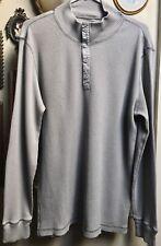 Classic Calvin Klein Men's Gray 100% Cotton Shirt Size L