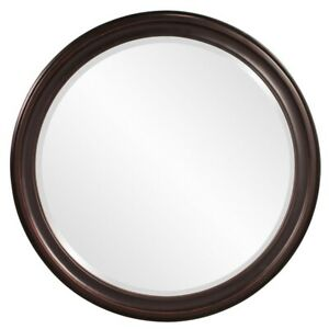 Howard Elliott George Bronze Round Mirror - 53044