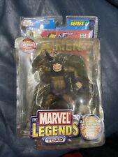 Marvel Legends Series I Toad 2002 Toy Biz Action Figure w/Comic - NIB