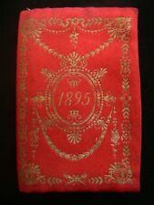1895 Italian Silk Wallet with Printed Calendar