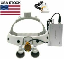 Dental Medical Headband 3w Led Head Light With Filter 25x Binocular Loupes Us