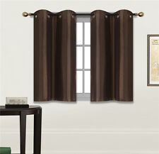 "2 PANELS Bedroom Half Window Curtain & KITCHEN WINDOW TIER 36"" LENGTH N25"