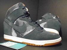 Nike Dunk SKY HI PRINT FLORAL HEELS ARMORY NAVY BLUE WHITE GUM 543258-401 9 7.5