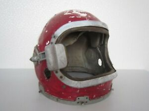 The helmet of the USSR pilot-cosmonaut. Space of the USSR.