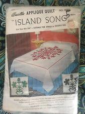 "NEW Island Style Quilt Kit Island Song Appliqué 84""x 100"" Hawaii"