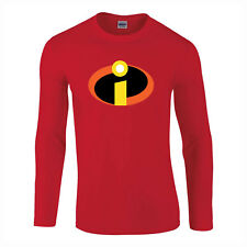 The Incredibles Super Hero Fancy Dress LONGSLEEVE Kids Adults T-Shirt