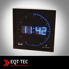 LED Wanduhr Design Digital Funk Uhr Küchenuhr  blau beleuchtet 250 x 60 x 250