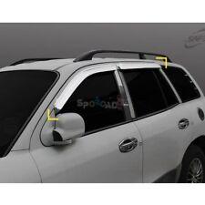 K-635 Chrome Window Sun Visor Cover for Hyundai Santa Fe 2001-2005