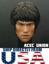 1/6 Scale Bruce Lee Head Sculpt For Hot Toys Enterbay Male Body U.S.A. SELLER