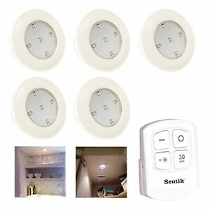 5 Pcs Remote Controlled Multi Function Led Push Light
