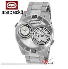 MARC ECKO MEN'S 2 TIMES SILVER IP COLLECTION WATCH E20060G1