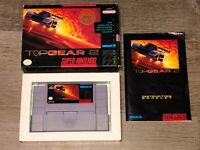 Top Gear 2 Super Nintendo Snes Complete CIB Excellent Condition Authentic