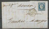 1852 Lettre N°4 Obl PC1896 + CAD 4 MARSEILLE 4 (12) Bouches du rhône RR. X1748
