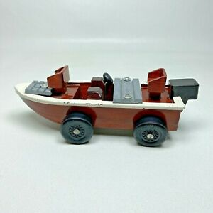 Unique Vintage BASS FISHING BOAT Pinewood Derby Car Pinecar Cub Boy Scouts BSA