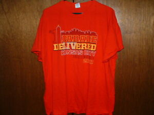 Kansas City Chiefs 2020 Parade Delivered I WAS THERE T- SHIRT XL-SS