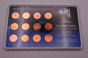 Sternzeichen - Glück - Cent - Münzen - Europa - Euro - Münzset - Jungfrau