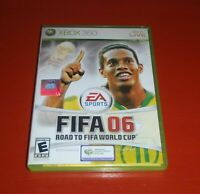 FIFA 06 Road to FIFA World Cup Xbox 360 Complete CIB PERFECT Disc VERY Fast Ship