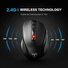 2400 DPI Wireless Optical Gaming Mouse Mice 5 Buttons for PC Laptop Desktop Mac