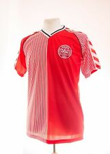 DENMARK 1986 WORLD CUP RED RETRO LAUDRUP 11 FOOTBALL SHIRT MEDIUM