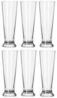 BOX OF 6 principe Beer Pilsner Pint Glasses - Classic Pub Glassware, 300ml