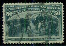 US #240, 50¢ Columbian, used, VF, Scott $175.00