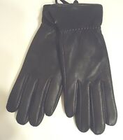 Black Style12 Seattle Genuine Leather Mittens With Finger Slots