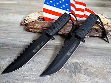 2 MESSER JAGDMESSER BOWIE KNIFE HUNTING CUCHILLO COLTELLO BUSCHMESSER
