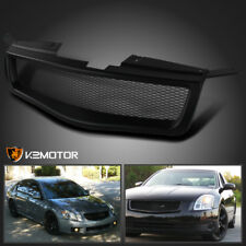 Fit 04-06 Nissan Maxima Black Front Upper Sport Main Mesh Hood Grille