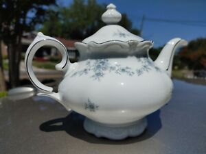 Bavaria Germany Winterling China Teapot Renaissance II Blue Floral 4 cup