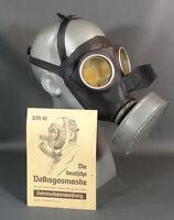 WWII German Auer Military Gas Mask Civilian Men VM40 RL1 Filter w/Instructions