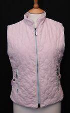 Joules women's lightweight pink quilt padded gilet bodywarmer waistcoat uk 10