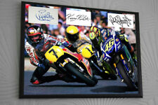 Valentino Rossi Barry Sheene Kenny Roberts Signed Tribute Framed Great Gift